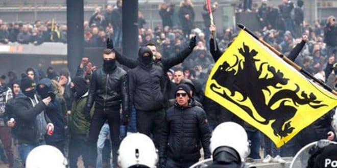 Брисел: Масовни протести против потписивања мигрантског пакта УН (видео) 1