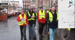 """Све масовнији протести """"Жутих прлуска"""" и у Холандији! (видео)"""