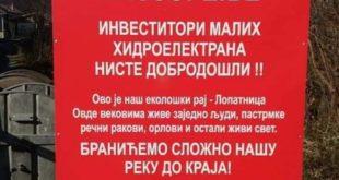 Против мини хидро електрана људи, рибе и ракови! 11