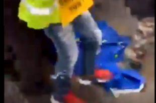 Французи бришу ципеле за заставом ЕУ! (видео)