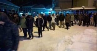 У Куршумлији, по јако хладном времену, одржан трећи протест против СНС 7