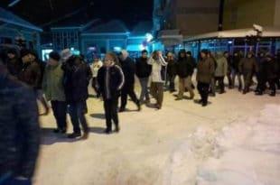 У Куршумлији, по јако хладном времену, одржан трећи протест против СНС