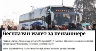 СНС у Лазаревцу државним новцем и на превару води пензионере на Вучићев митинг 10
