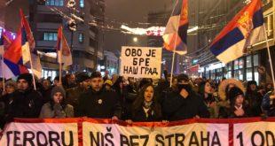 """У Нишу одржан протест под називом """"Стоп терору - за Ниш без страха, 1 од 5 милиона"""" 5"""