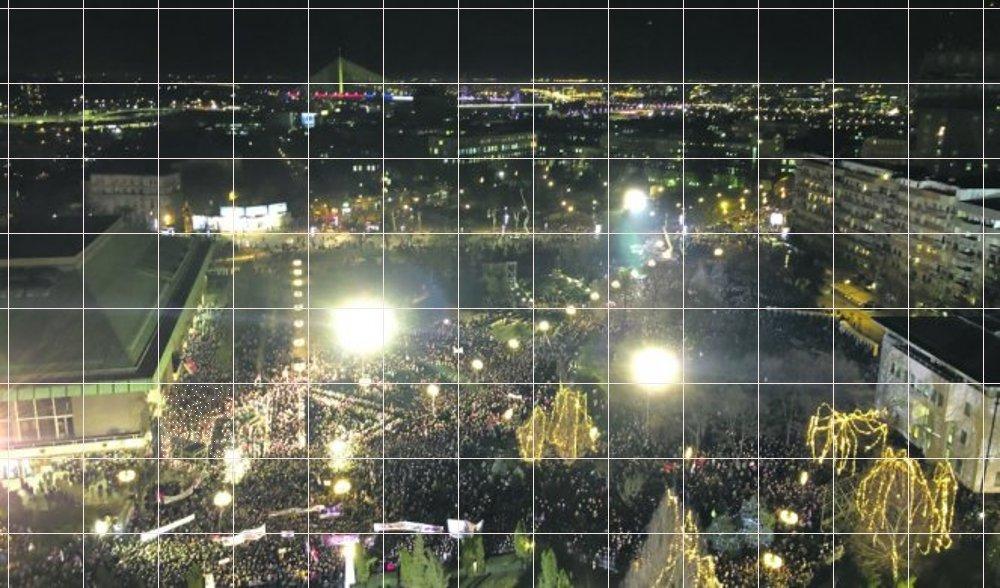 Избројали смо људе на платоу Храма Светог Саве, нема их више од 5.000!