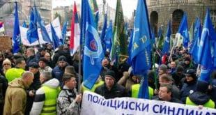 Протест Полицијског синдиката испред МУП Србије 8