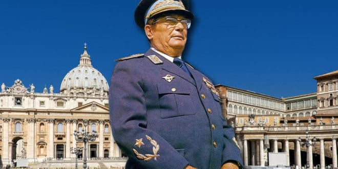 Тито је био почасни каноник Папе, а сахрањен је као припадник тајног ватиканског реда пилигринских фратара