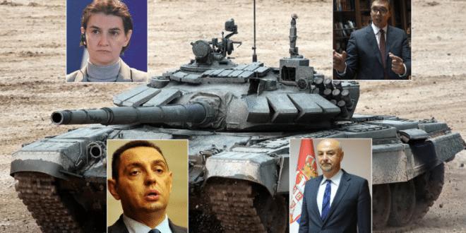 СКАНДАЛ! Вучић, Брнабић и Вулин одбили руску донацију модерних руских тенкова Србији!? 1