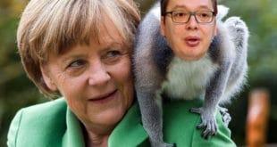 Како је Меркелова од Вучића направила ЦИРКУСКОГ МАЈМУНА 12