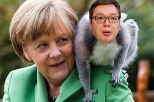 Како је Меркелова од Вучића направила ЦИРКУСКОГ МАЈМУНА