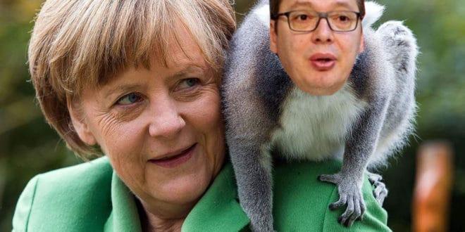 Како је Меркелова од Вучића направила ЦИРКУСКОГ МАЈМУНА 1