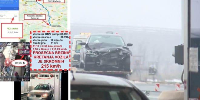 """У кривичној пријави се не наводи којом је брзином возио Бабићев """"возач"""" 1"""