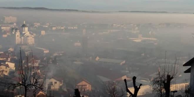 Ваљево најзагађенији град у Србији у јануару 1