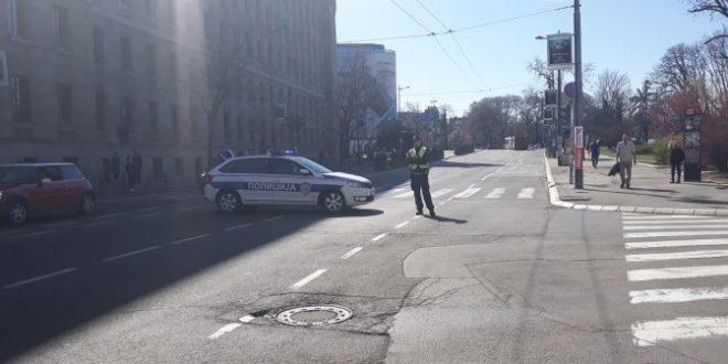 Полиција блокирала шири центар Београд (фото) 1