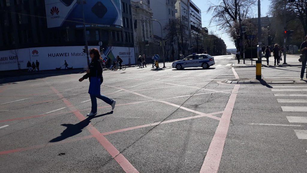 Полиција блокирала шири центар Београд (фото) 4