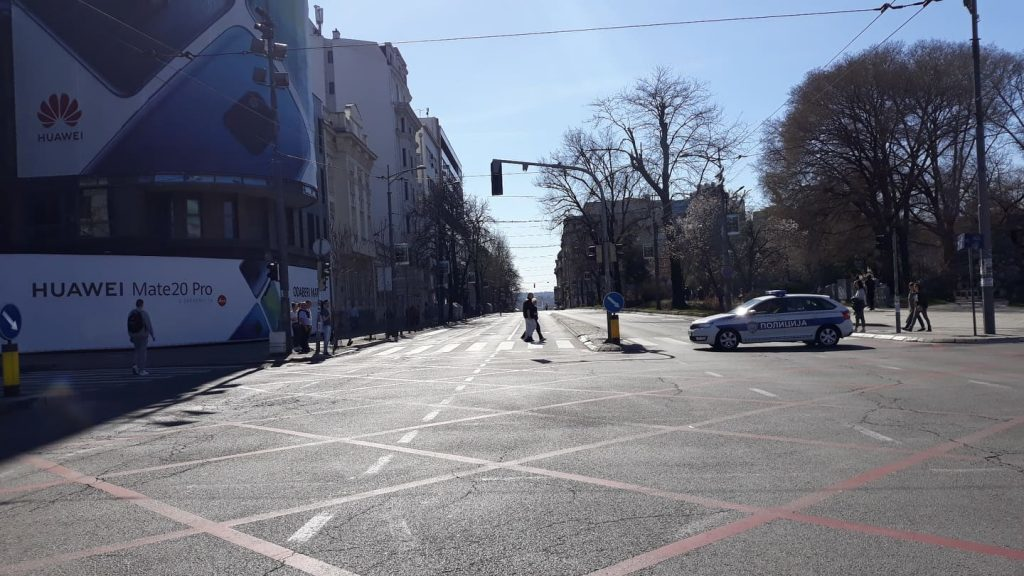Полиција блокирала шири центар Београд (фото) 3