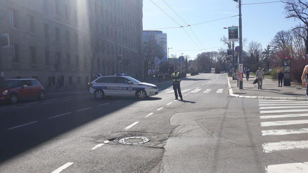 Полиција блокирала шири центар Београд (фото) 2