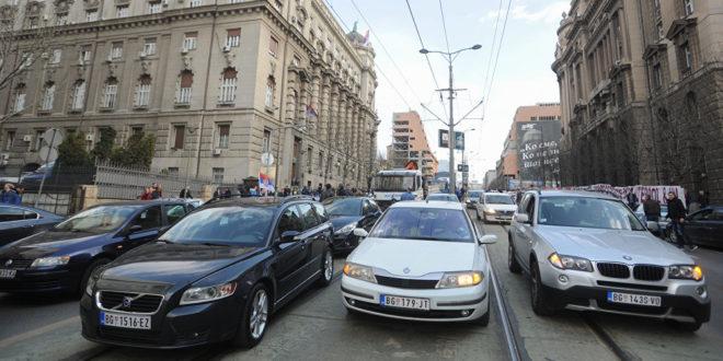 Центар Београда блокиран због протеста 1