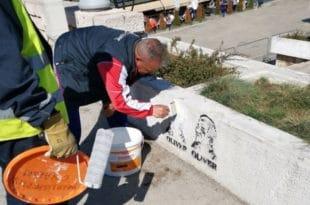 Локална власт у Нишу наредила да се прекрече графити са ликом Оливера Ивановића