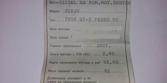 НОВА ПЉАЧКА! Укида се трајна регистрација за мопеде (скутере), али и за тракторе и мотокултиваторе 1