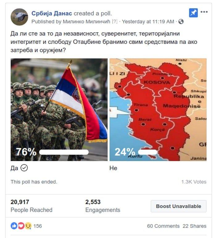 Огромна већина Срба (76%) спремна да брани Србију и слободу свим средствима па и оружјем ако затреба! 3