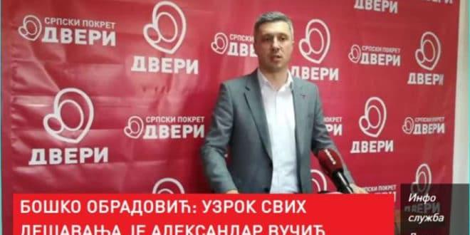 Бошко Обрадовић: УЗРОК СВИХ проблема је АЛЕКСАНДАР ВУЧИЋ 1