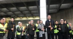 ДЈБ минутом ћутања испред конзулата Немачке упозорава на укидање демократије у Србији 6