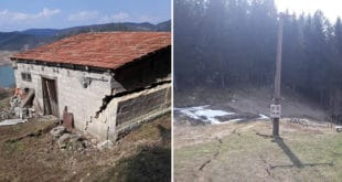 Немар ЕПС-а довео до катастрофе у Заовинама: Kуће мештана и брда клизе у језеро Заовине! (фото) 1