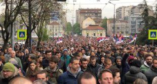 Ово су захтеви са данашњег протеста опозиције у Београду 3