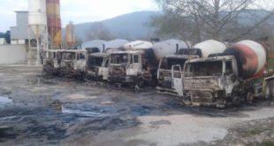 Врање: Везали чувара и запалили сва возила предузећа (фото, видео) 5