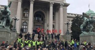 Масован протест опозиције у Београду (видео) 9
