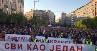 """Београд: У току протест """"Један од пет милиона"""" и шетња до РТС 10"""