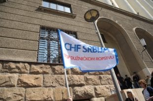 Задужени у швајцарцима, не одустају од данашњег протеста
