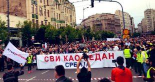На данашњем протесту 1од5милиона у Београду једва пар хиљада људи 11