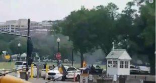 Човек се самоспалио испред Беле куће у Вашингтону (видео 18+)