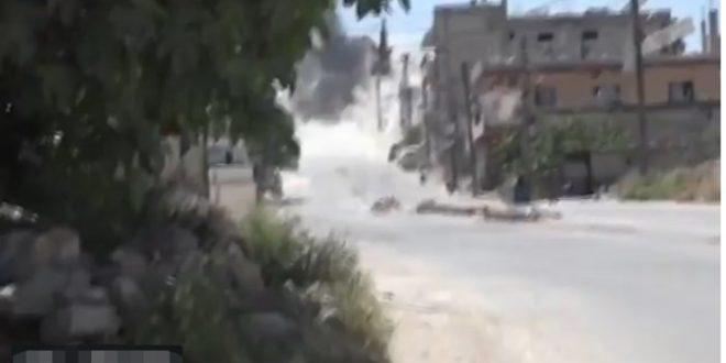 Сирија: Снимак удара руске авиобомбе К-250 у базу терориста (видео) 1