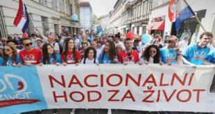 """Широм Хрватске одржава се """"Ход за живот"""" – учесници траже забрану абортуса"""