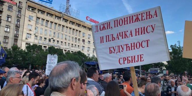 """Двадесет пети протест """"1 од 5 милиона"""" у Београду (фото, видео) 1"""