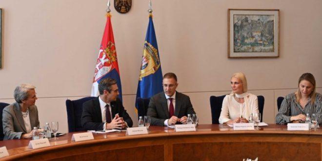 Стефановић са делегацијом Атлантског савета из Вашингтона 1