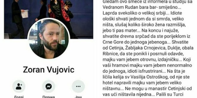 Црногорске усташе настављају да шире мржњу против свега српског! 1