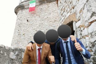 Италијани поставили италијанску заставу на Трсатску градину у Ријеци (видео) 4