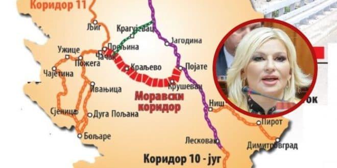 Узимају кредит од 430 милиона евра за Моравски коридор
