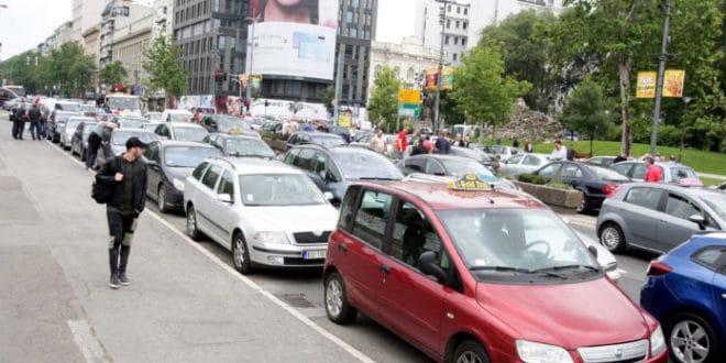 Београд: Таксисти блокирали ужи центар града 1