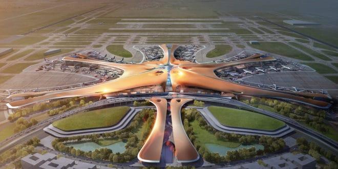 У Пекингу отворен највећи аеродром на свету, у облику звезде
