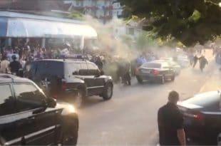Шиптари камењем засули конвој аутомобила Едија Раме (видео) 6