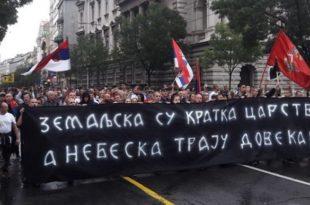 Протест патриотских организација у Београду: Космет прогласити окупираном територијом (видео)