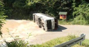 Преврнуо се аутобус пун војника, 23 особе повређене (видео) 2