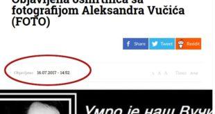 Умрлица за Вучића коришћена је у сличној црној режимској пропаганди још 2017. године 4