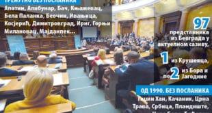 Србија: Без посланика чак 104 општине