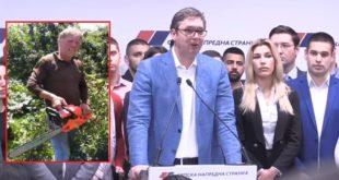 Сељак са моторном тестером у руци одржао жестоку лекцију Вучићу и министрима (видео)